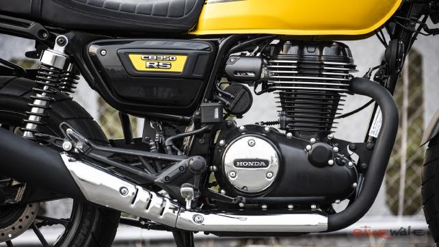 Motor Honda CB350RS desde la derecha