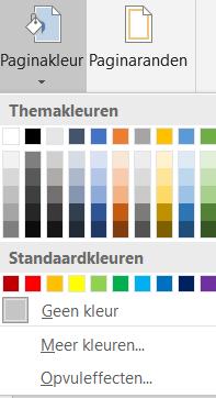 Elija un color de página diferente en Word
