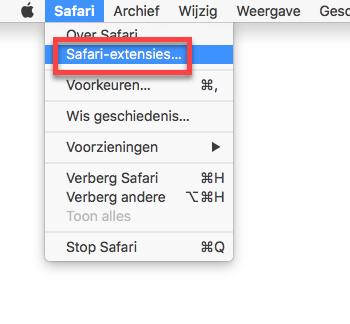 Instalar extensiones de Safari