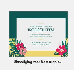 Invitación a una fiesta tropical