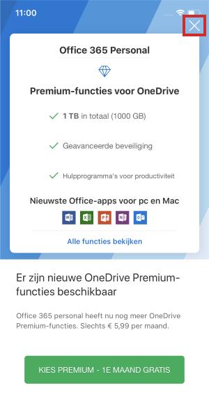 Inicie sesión en la aplicación OneDrive para iOS