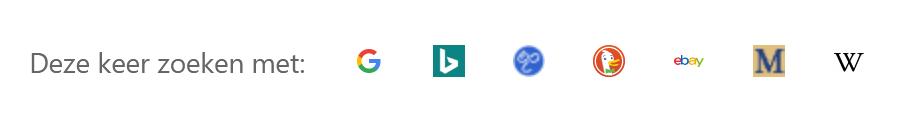 Opciones de búsqueda en la barra de direcciones de Firefox